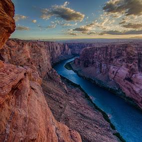 Colorado River by David Pilasky - Landscapes Caves & Formations ( colorado river, rock formations, page, waterscape, arizona, canyon, glen canyon, river )
