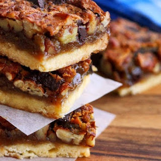 Sweet & Soy Chocolate Pecan Pie Bars
