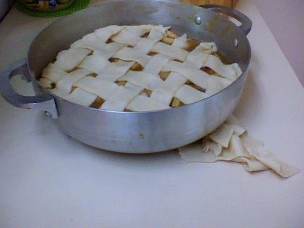 Spray the Lattice with water or wet with your hand and then sprinkle the...