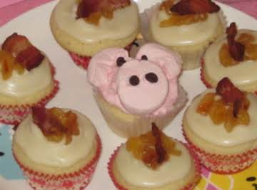 The BMC2: a bacon maple cream cheese frosted apple cinnamon french toast cupcake