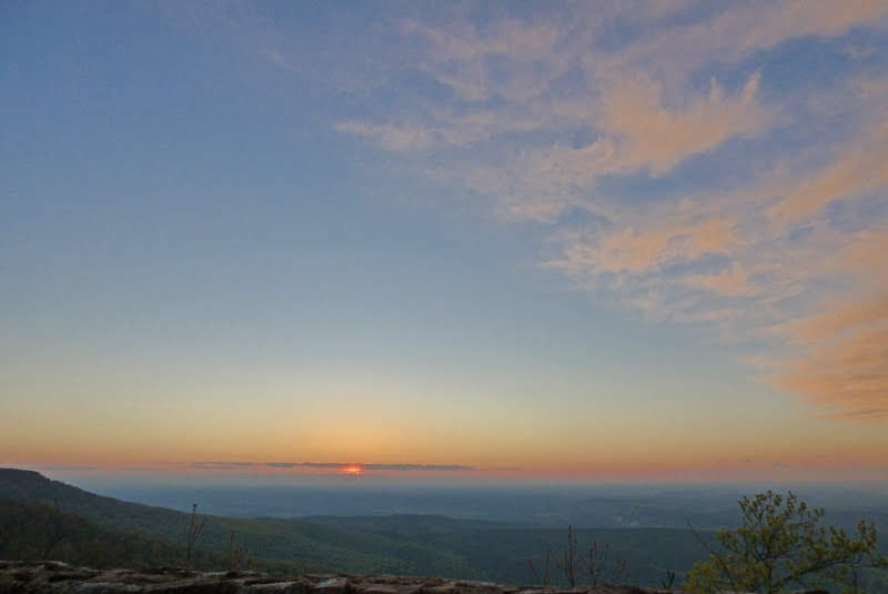 Arkansas Sunset from Mount Magazine