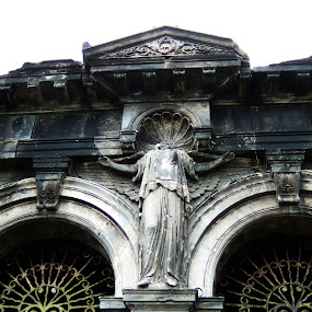 Entrance Vault by Juliusz Wilczynski - Buildings & Architecture Statues & Monuments ( broken, arch, graveyard )