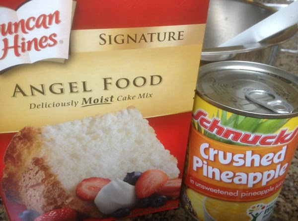 Mix a box of Angel Food Cake mix (just the contents of the box,...