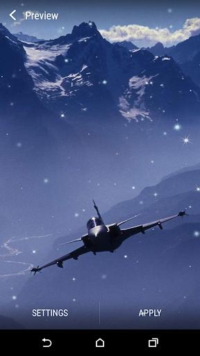 제트 전투기라이브 배경 화면