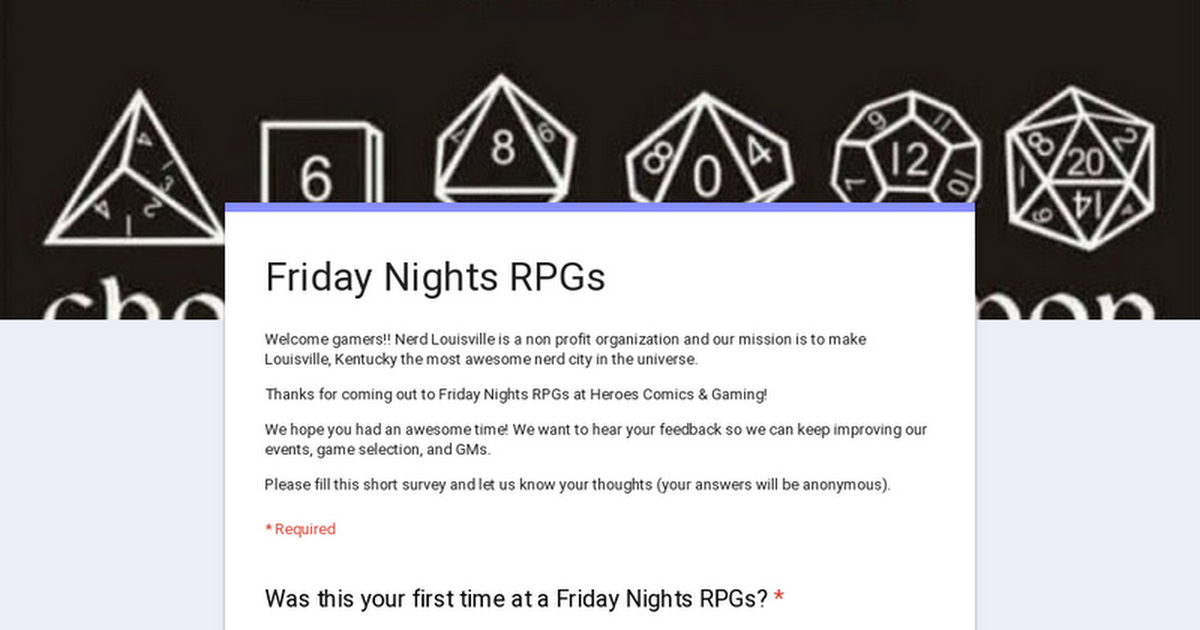 Friday Nights RPGs
