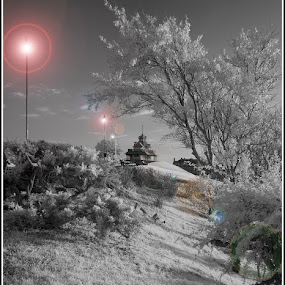 The Mount at Fleetwood by Peter Hearn - Landscapes Mountains & Hills ( pavilion mount fleetwood infrared )