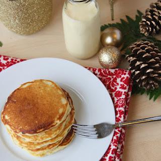 Perfect Eggnog Pancakes