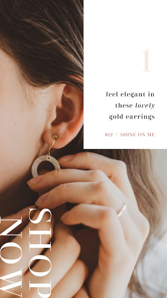 Shop Now Earrings - Facebook Story Template
