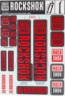 RockShox Decal Kit, 35mm alternate image 4