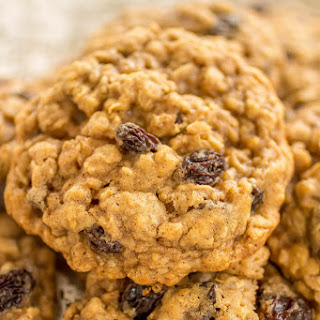 Classic Soft and Chewy Oatmeal Raisin Cookies.