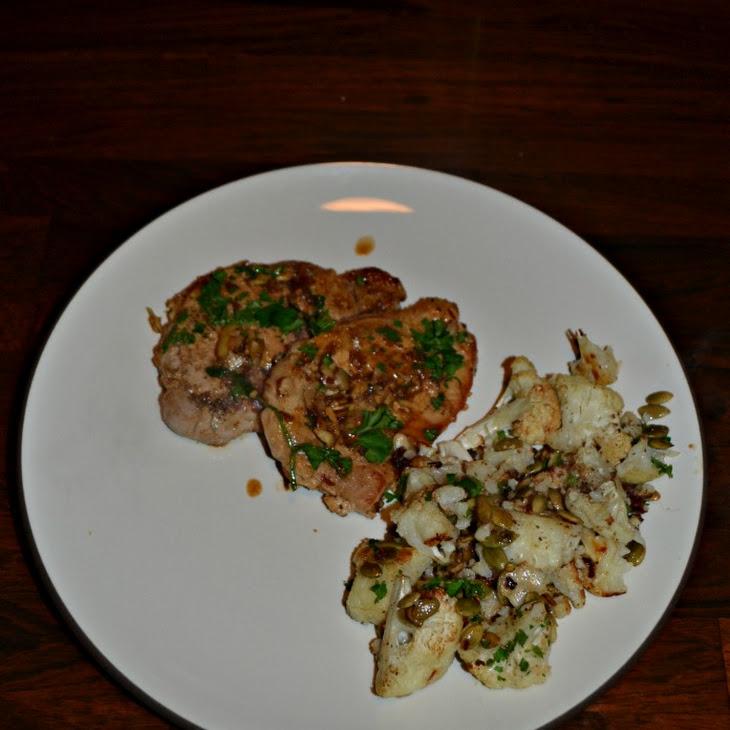 Pork Chops with Almond and Paprika Vinaigrette