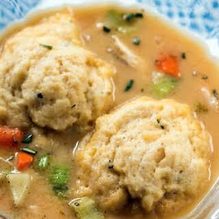 Healthy Weeknight Chicken and Dumplings.