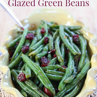Cranberry Orange Glazed Green Beans