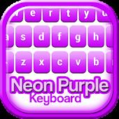 Neon Purple Keyboard Theme