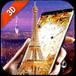 Rainy Paris Waterdrop Eiffel Tower Wallpaper 3D Icon