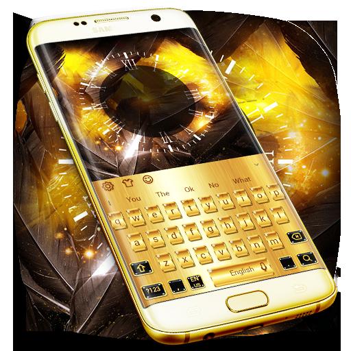 Gold Luxury Metal Keyboard Theme