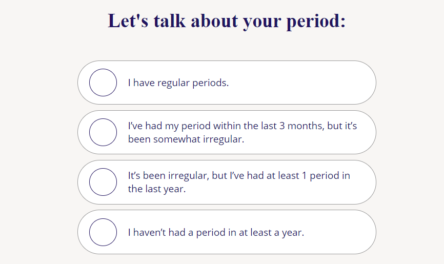 quiz question about period