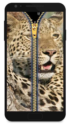 拉鍊鎖屏 - 豹