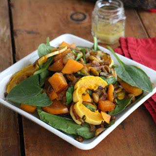 Delicata Squash & Persimmon Salad