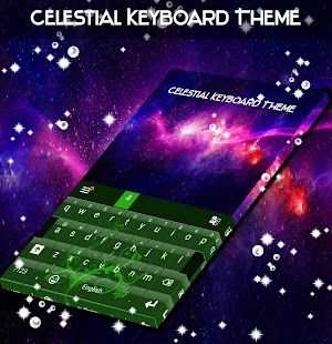 Celestial Keyboard Theme - náhled