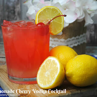 Lemonade Cherry Vodka Cocktail.