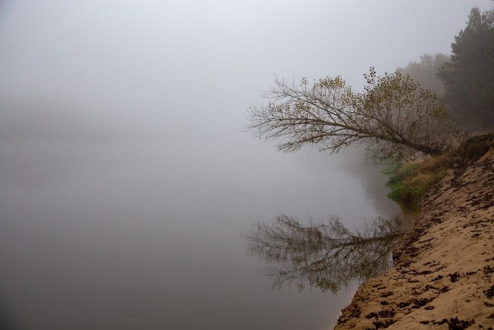 zamglony brzeg, weekend na Mazowszu