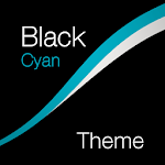 Black - Cyan Theme for Xperia Icon