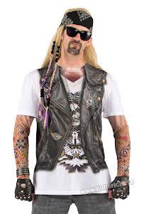 T-shirt, biker