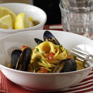 Spaghetti with Mussels.