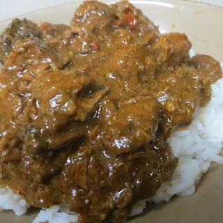 Slow-Cooked Indian Madras Beef Curry.
