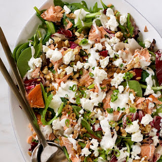 Smoked Salmon, Farro & Goat Cheese Salad