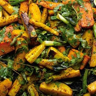 Curry Roasted Root Vegetables With Lime.