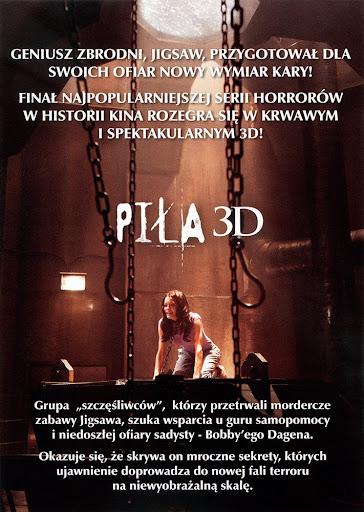 Tył ulotki filmu 'Piła 3D'