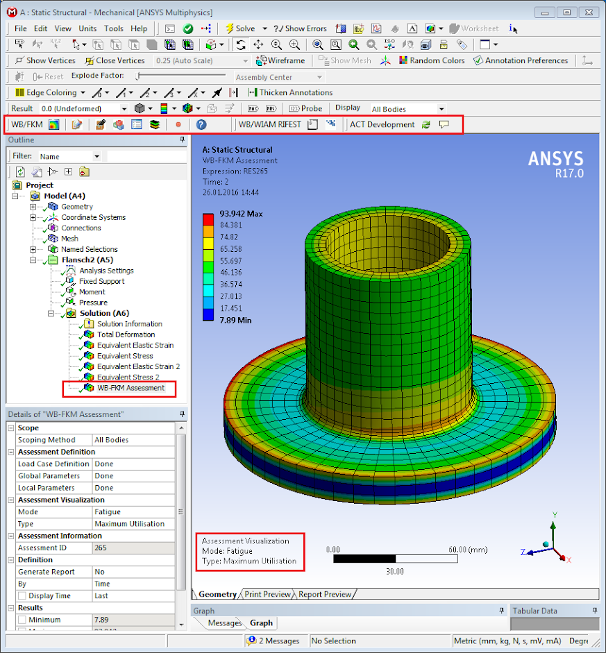 Интеграция методики FKM в ANSYS Workbench с помощью ACT расширения