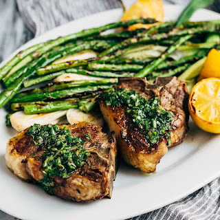 Grilled American Lamb Loin Chops with Spring Herb Salsa Verde Recipe