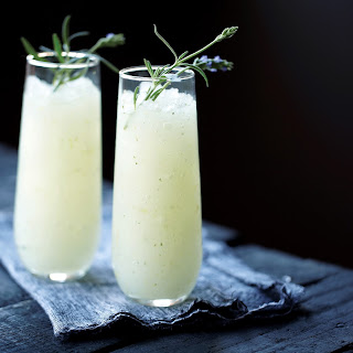 Ginger Lavender Infused Vodka Slush.