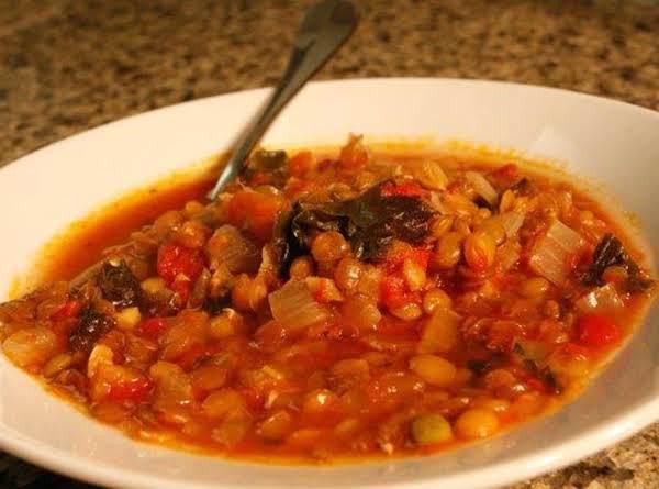 Lentil Tomato Soup Recipe