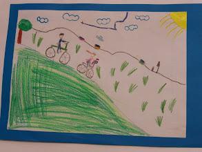 """Photo: praca Julii """" Jeździmy rowerem bo ... jest szybciej """""""