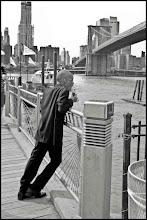 Photo: www.leannestaples.com  Fulton Ferry Landing, Brooklyn