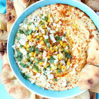 Elote-Inspired Sweet Corn Hummus.