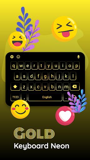 Gold Neon Keyboard screenshot 3