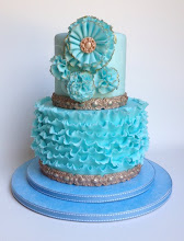 Photo: Pretty in Blue by Couture Cakes by Rose (6/22/2012) View cake details here:http://cakesdecor.com/cakes/19209
