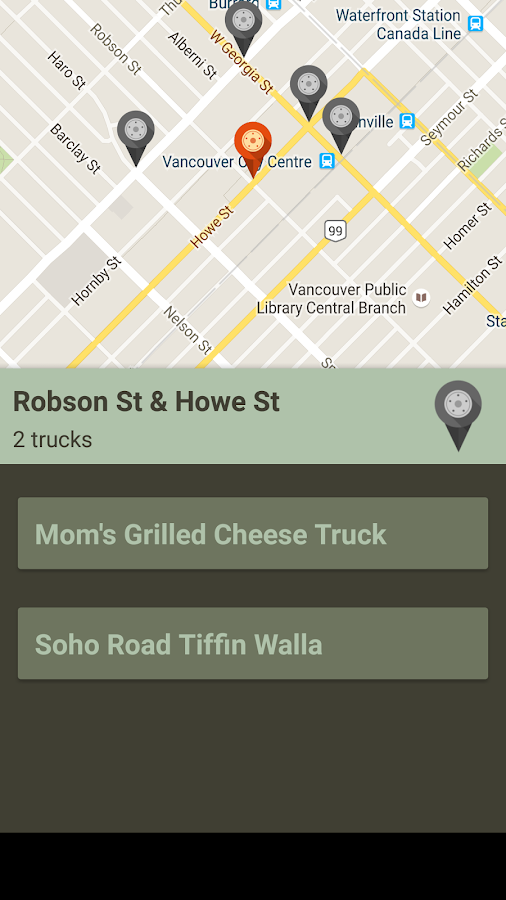 Vancouver Food Trucks- screenshot