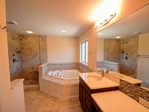 Photo: The master bath in the ARLINGTON