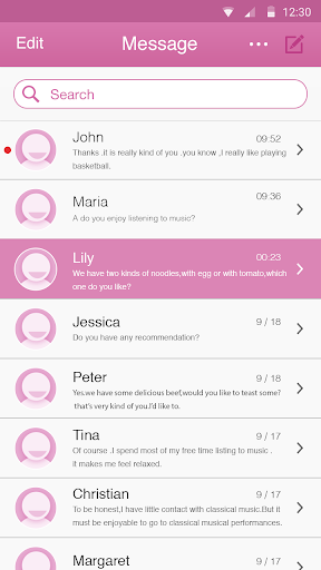 SMS Fuchsia Color Theme