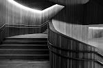 houten, ingebouwde, trap met verticale wanden