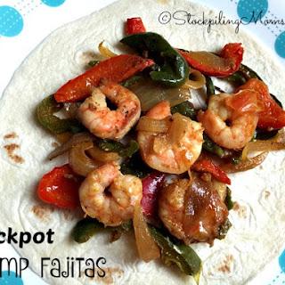 Crockpot Shrimp Fajitas