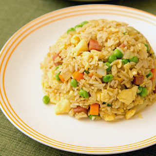 Curry Fried Rice with Spam (Adapted from Uni Homemaker).