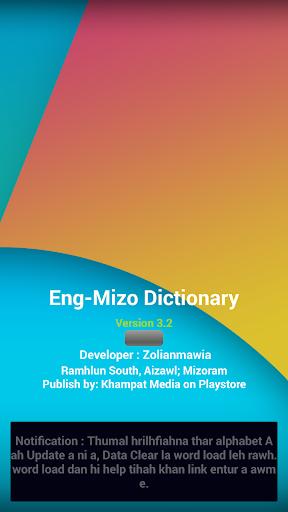 English - Mizo Dictionary