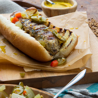 Pork Kebab Dog with Spicy Pickle Relish.